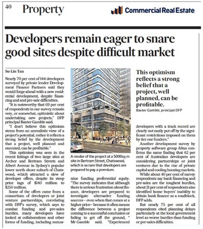 Developer remain eager to snare good sites despite difficult market